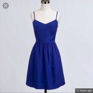 J. Crew Bright Blue Cami Dress
